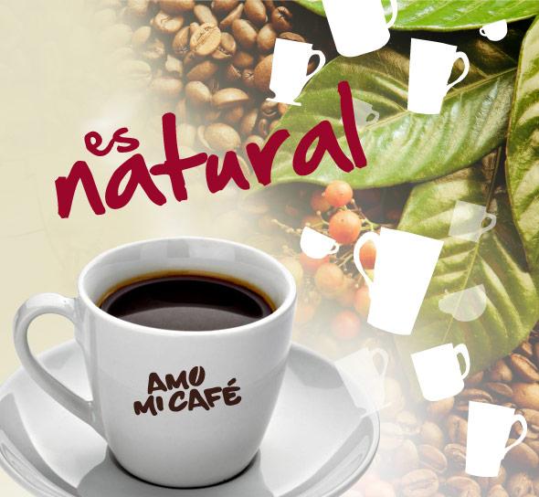 Amo mi café, es rico y natural